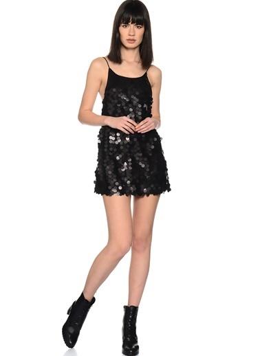 Motel Rocks Askılı Mini Abiye Elbise Siyah